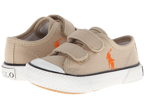 Polo Ralph Lauren Kids - Chaz EZ (Toddler) (Khaki Canvas) Boys Shoes