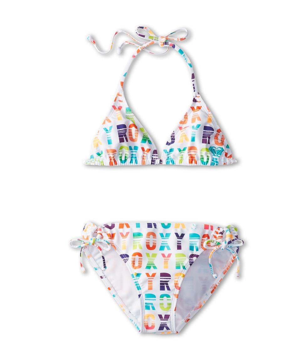 Roxy Kids Sundown Tiki Tri Set Girls Swimwear Sets (Multi)