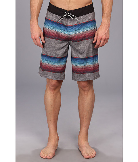 DC - Arriba Boardshort (Black Stripe) Men's Swimwear