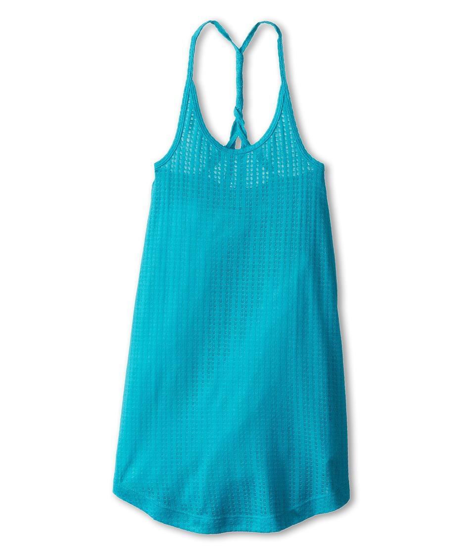 Roxy Kids Sunrise Cover Up Dress Girls Swimwear (Blue)