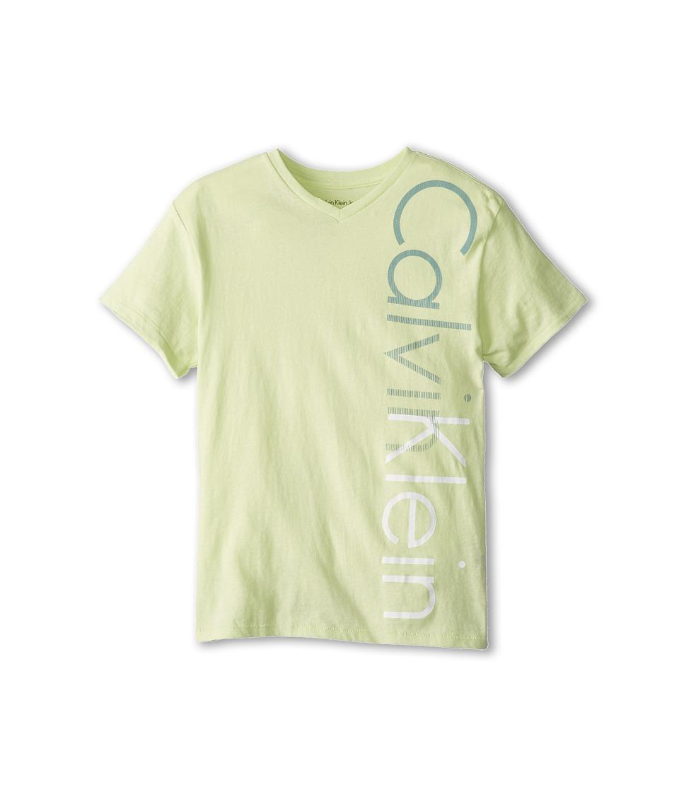 Calvin Klein Kids Iconic V Neck Tee Boys T Shirt (Multi)