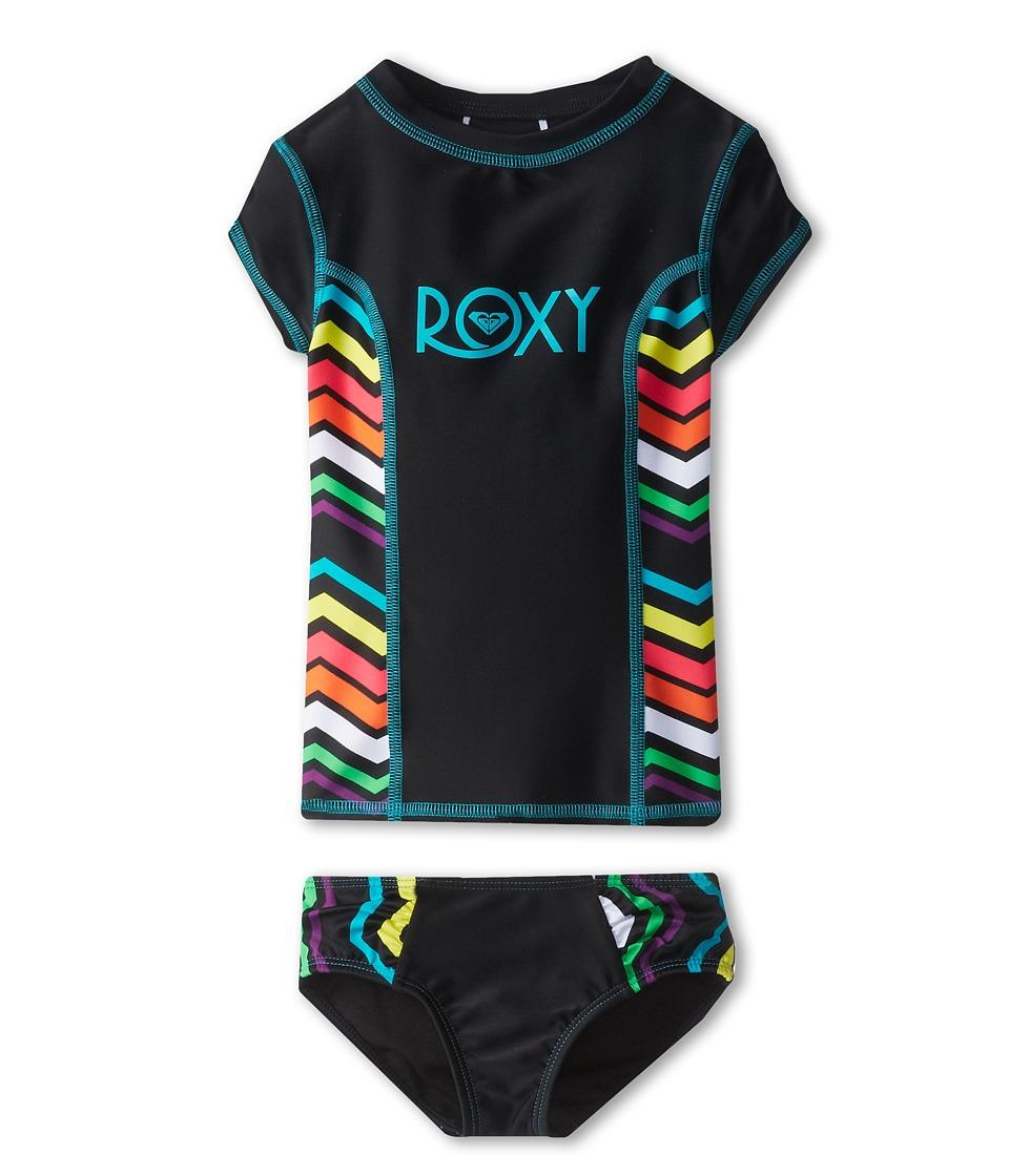 Roxy Kids Wave Wanderer S/S Rashguard Set Girls Swimwear Sets (Multi)
