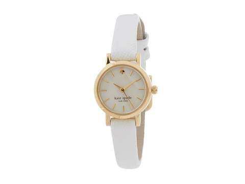 Kate Spade New York - Tiny Metro - 1YRU0422 (Gold/White) Watches