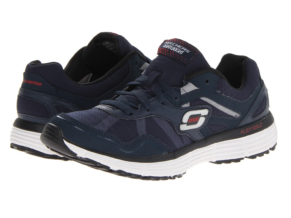 SKECHERS - Agility - Victory Won (Navy/White) Men's Shoes