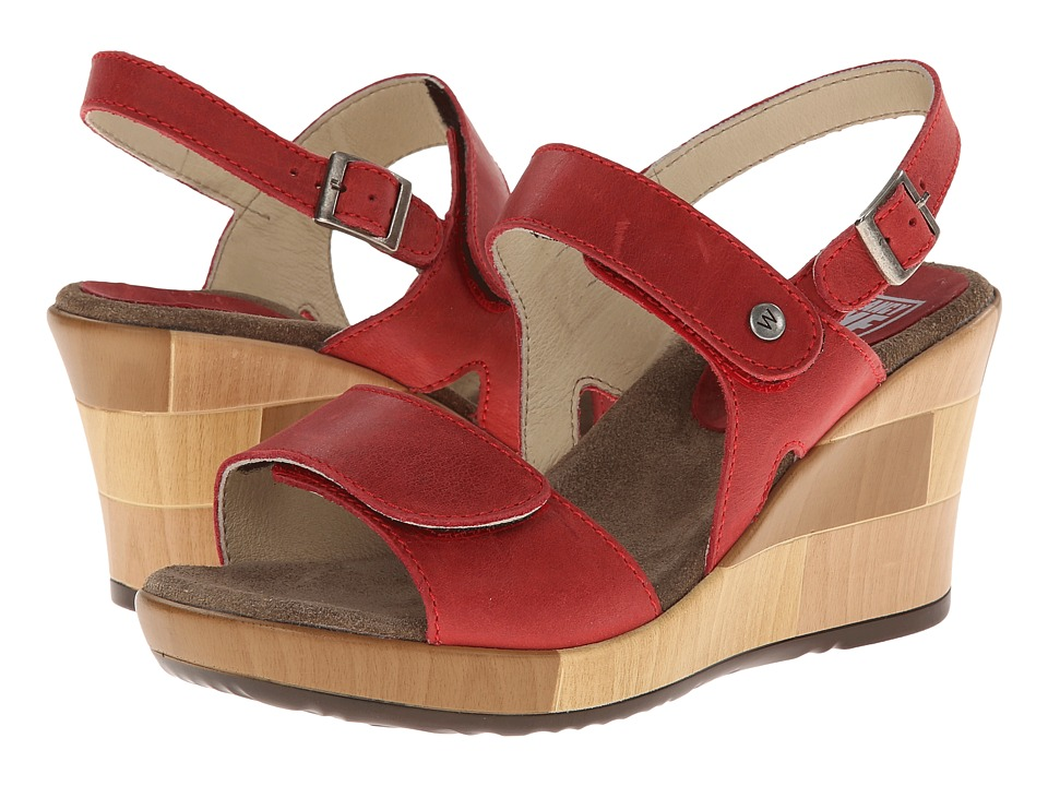 Wolky - Rose (Red/Buffed) Women's Shoes