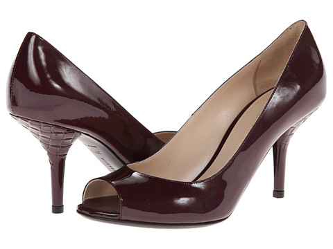 Bottega Veneta - Open Toe Pump (Aubergine) High Heels