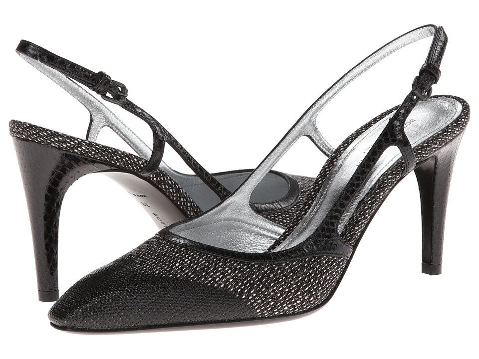 Bottega Veneta - Sling Pump (Medium Grey/Nero) High Heels
