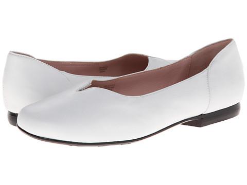 Taryn Rose - Bradley (White Nappa) Women's Slip on Shoes