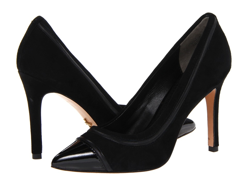 Pour La Victoire - Nirvana (Black Patent/Kid Suede/Snake Chain) High Heels