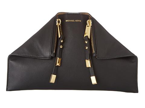 Michael Kors Collection Miranda Zip Clutch (Black) Clutch Handbags