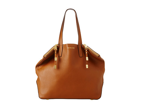 Michael Kors Collection Miranda Shopper (Luggage) Tote Handbags