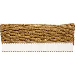Michael Kors Collection Santorini Foldover Clutch (Optic White) Clutch Handbags