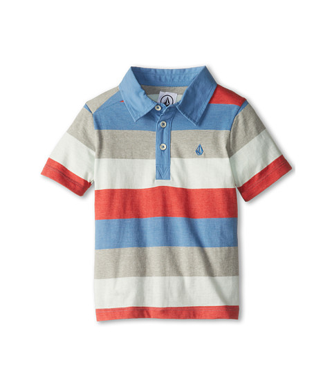 Volcom Kids - Paco S/S Polo (Big Kids) (Airforce Blue) Boy
