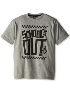 SALE! $9.99 - Save $8 on Volcom Kids School`s Out S S Tee (Big Kids) (Heather Grey) Apparel - 44.50% OFF $18.00