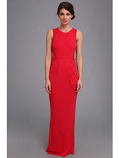 SALE! $229.99 - Save $226 on ABS Allen Schwartz Jersey Round Neck Dress w Mesh Insets (Garnet) Apparel - 49.56% OFF $456.00