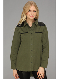 SALE! $16.99 - Save $48 on Type Z Kaley Shirt (Olive) Apparel - 73.86% OFF $65.00