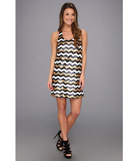 Type Z - Roxanne Chevron Sequin Dress (Multi Chevron) Women's Dress