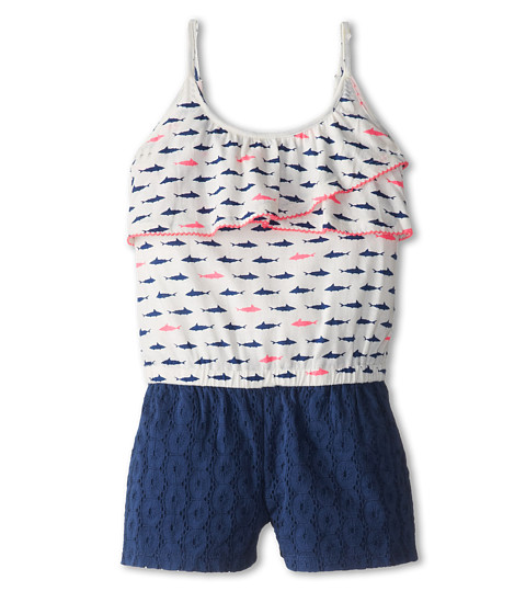 Roxy Kids - Moon Rise Romper (Toddler/Little Kids) (Sea Spray Shark Ditsy) Girl