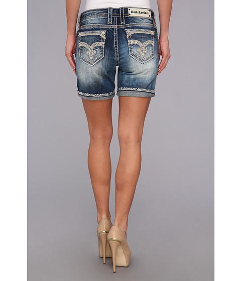 Rock Revival - Dolly Cuffed Easy Short (Medium Indigo) Women's Shorts