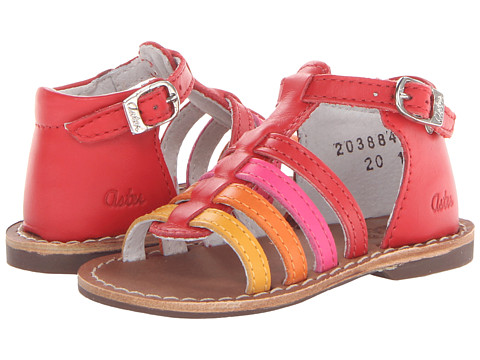 Aster Kids - Vision (Toddler) (Red/Multi Leather) Girl
