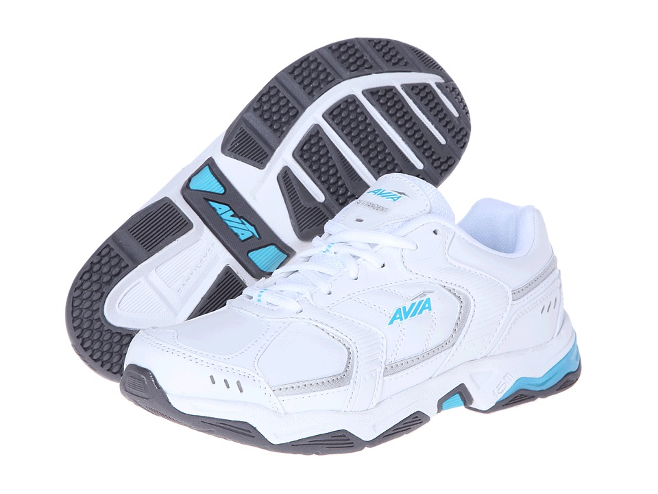 Avia Avi-Tangent A1483W (White/Detox Blue/Chrome Silver) Women