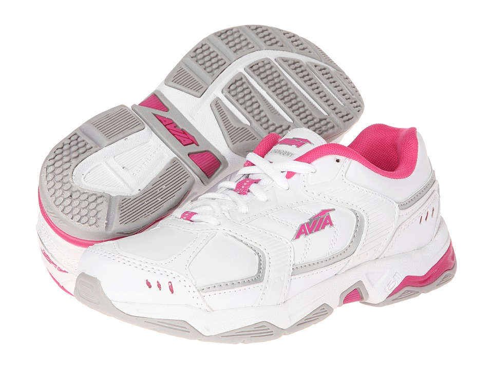 Avia Avi-Tangent A1483W (White/Pink Scorch/Chrome Silver) Women