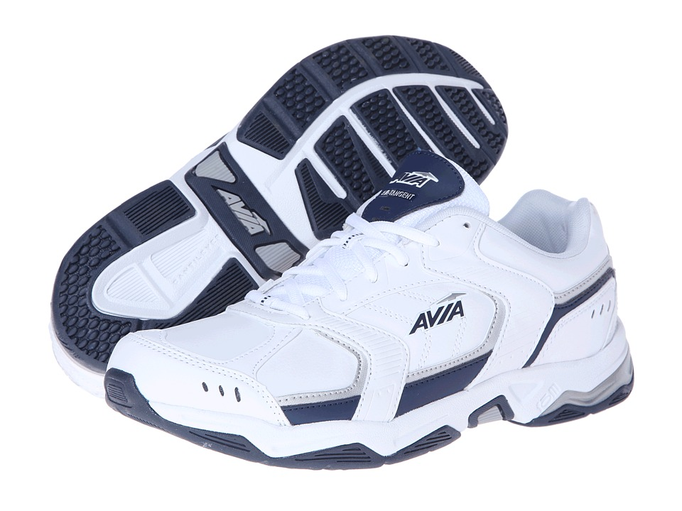 Avia - Avi-Tangent A1483M (White/Submarine Blue/Chrome Silver) Men's Shoes