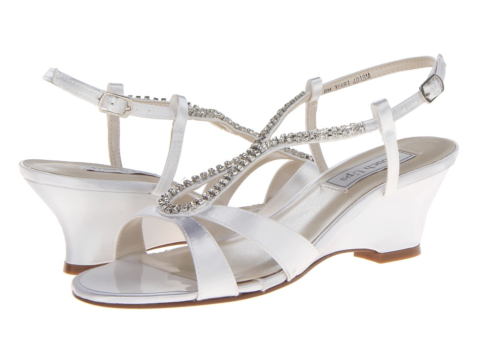 Touch Ups - Bernie (White Satin) Women's Dress Sandals