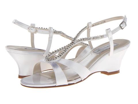 Touch Ups - Bernie (White Satin) Women's Dress Sandals