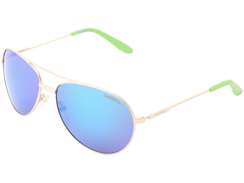 Carrera - Carrera 69/S (Semi Matte Gold/Multilayer Green) Metal Frame Fashion Sunglasses