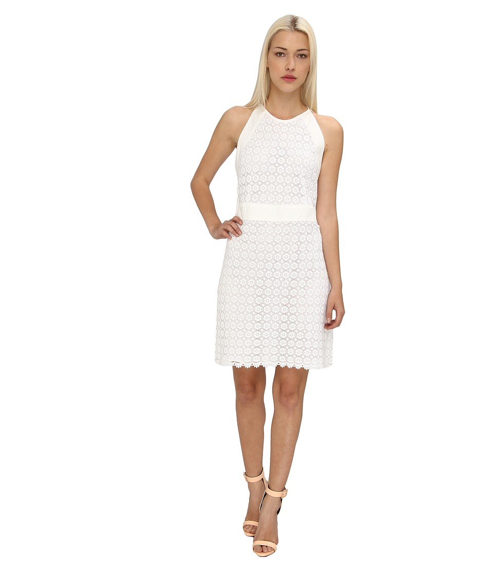 See by Chloe - S/L Dress w/ Tie in Back (White) Women's Dress