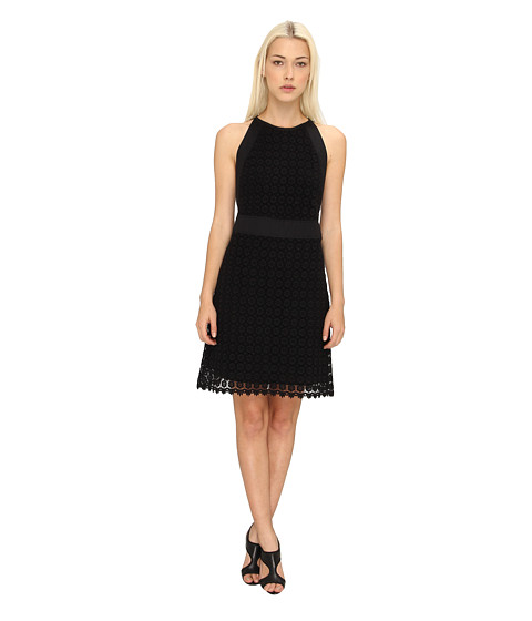 See by Chloe - S/L Dress w/ Tie in Back (Black) Women