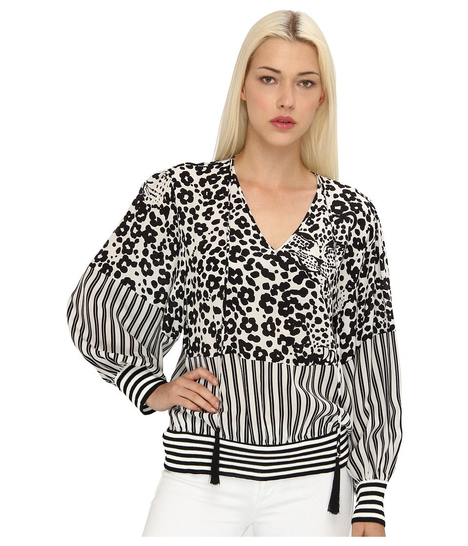 See by Chloe - L/S Blouse w/ Drawstring Neck Line And Gathered Waist (Ecorce-ECRU) Women's Blouse
