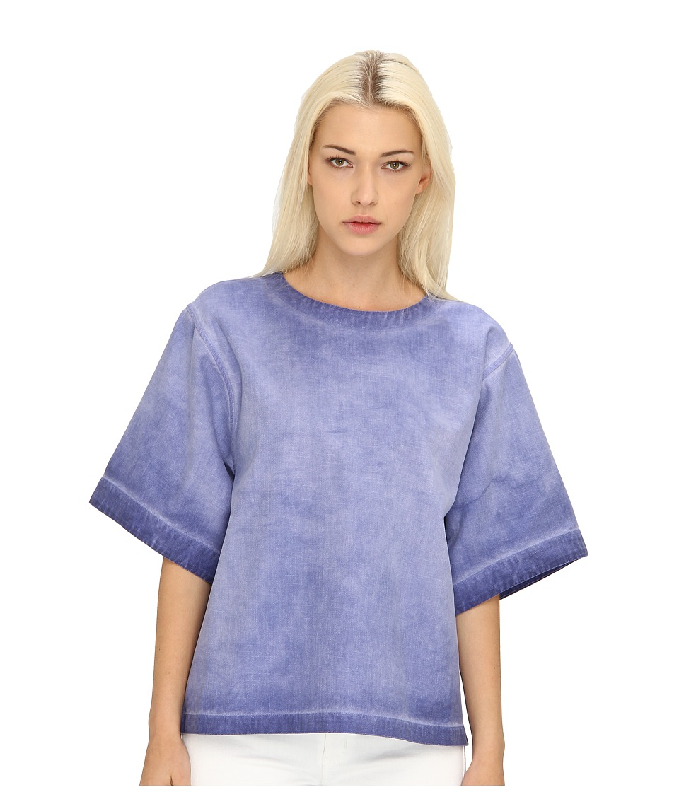 See by Chloe - S/S Crew Neck Top (Blue Indian Fade) Women