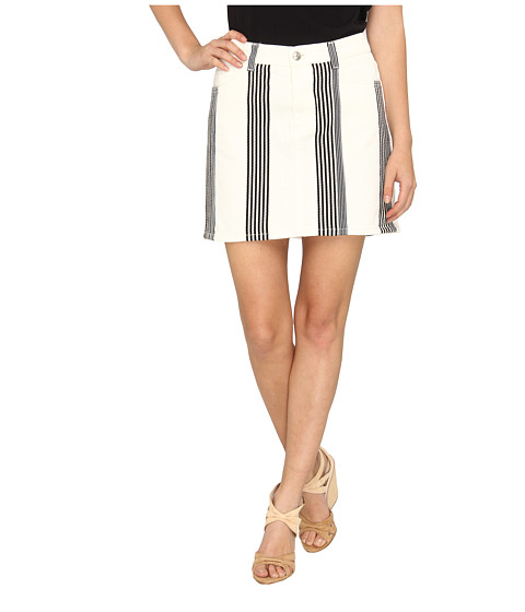 See by Chloe - Denim Skirt w/ Vertical Stripe Detail (Stripe DC) Women's Skirt