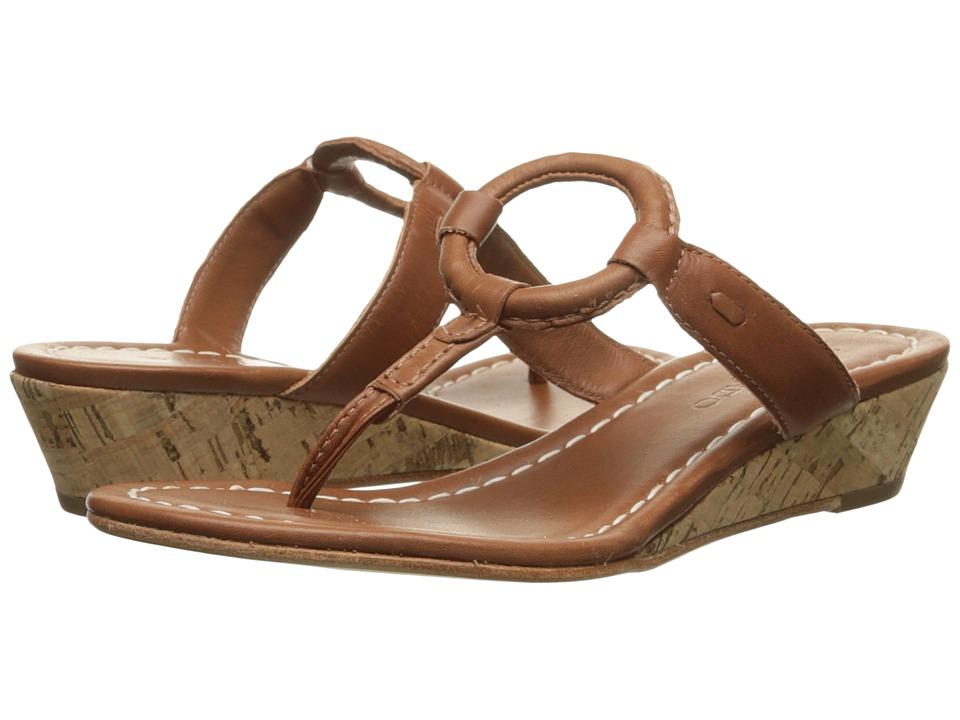 Image of Bernardo - Matrix Wedge (Luggage Calf/Luggage Calf) Women's Wedge Shoes