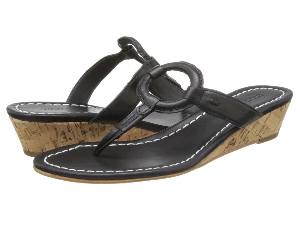 Bernardo - Matrix Wedge (Black Calf/Black Calf) Women's Wedge Shoes