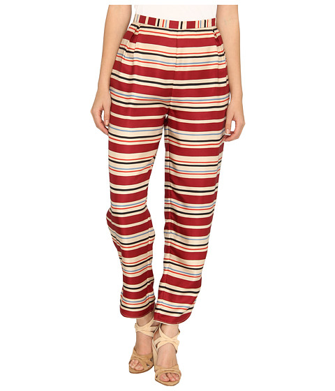 See by Chloe - Loose Fit Pants (Burgundy) Women's Casual Pants