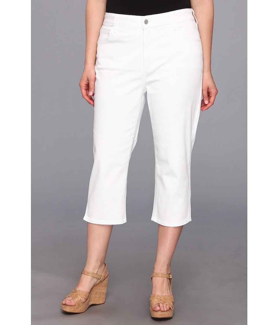 NYDJ Plus Size - Plus Size Hayden Crop (Optic White) Women