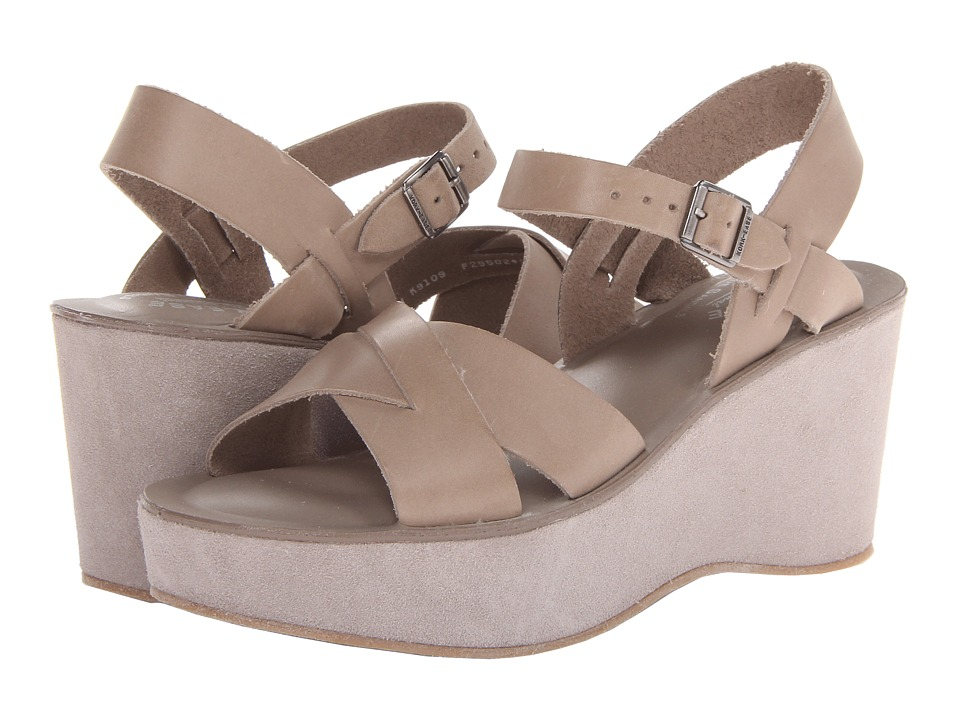 Kork-Ease - Ava (Putty Buff/Suede) Women's Wedge Shoes