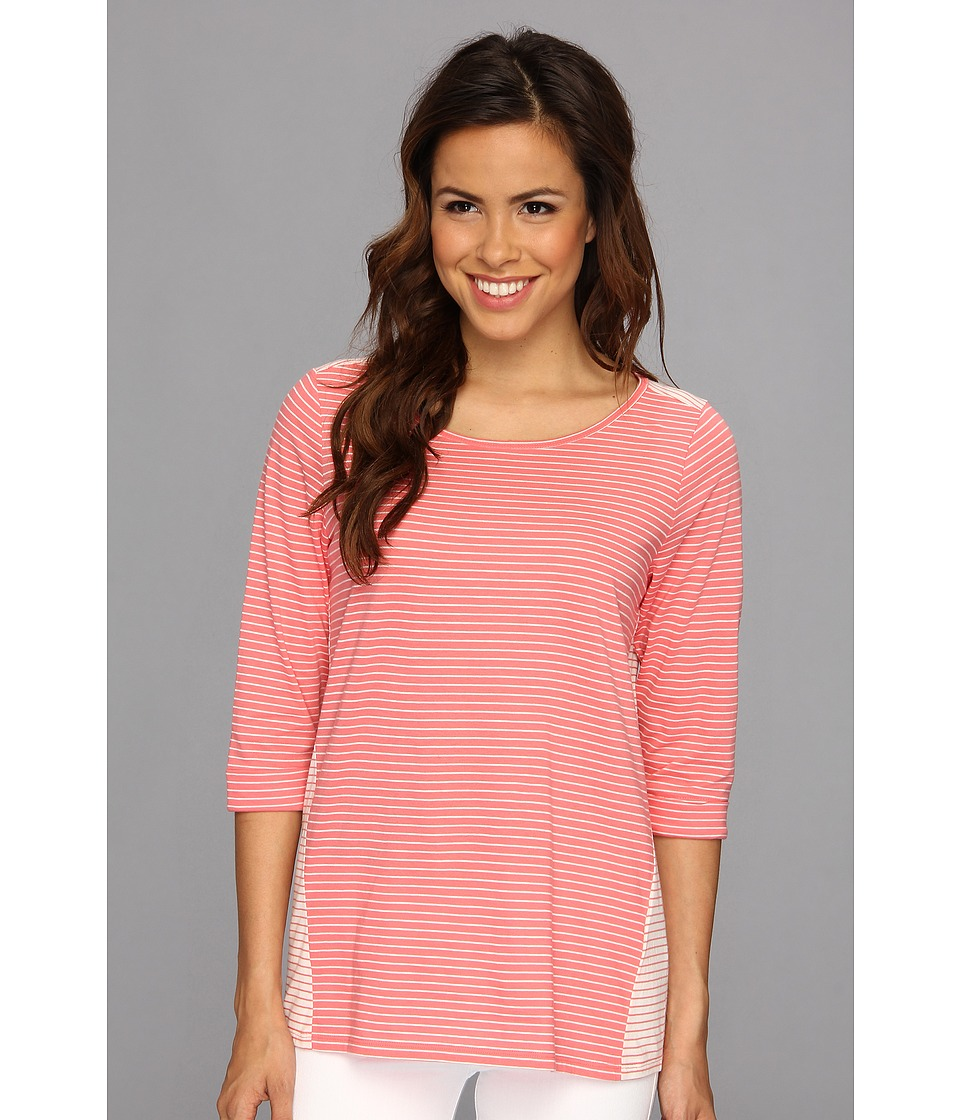NYDJ - Blocked Stripe Top (Sugar Coral) Women