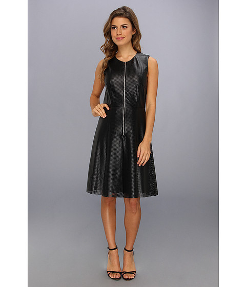 Calvin Klein - Per Fit and Flare Dress (Black) Women