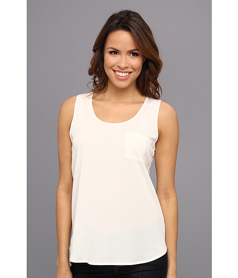 Calvin Klein - One Pocket Sleeveless Tank Top (Birch) Women's Sleeveless