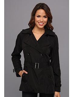 Calvin Klein Trench Coat (Black) Women's Coat