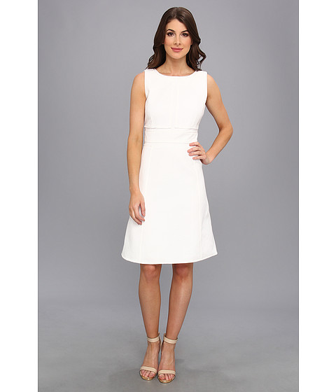 Calvin Klein - Jacquard Dress (Ivory) Women's Dress