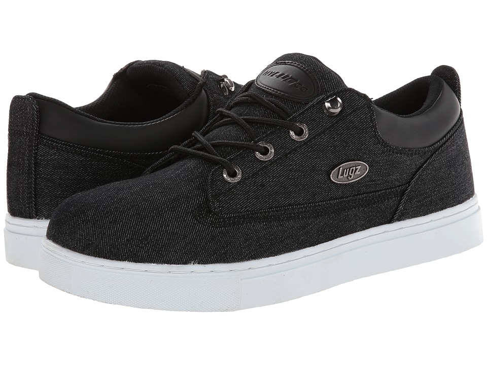 Lugz - Gypsum Lo Denim (Black/White Canvas) Men's Lace up casual Shoes