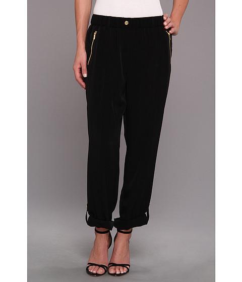 Calvin Klein - Tab Cuff Woven Pant (Black) Women's Casual Pants