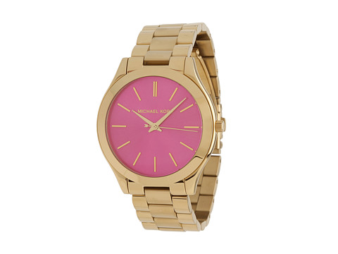 Michael Kors - MK3264 - Slim Runway (Gold/Pink) Analog Watches