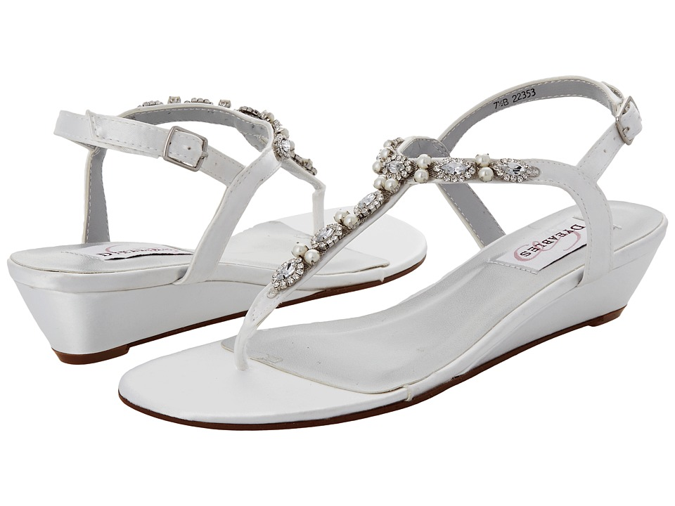 Touch Ups - Myra (White Satin) Women's Sandals