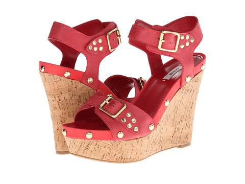 GUESS Lalai (Red Leather) Women's Wedge Shoes